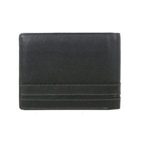 Bifold Black Men's wallet 614838 back (leathermanfashion)