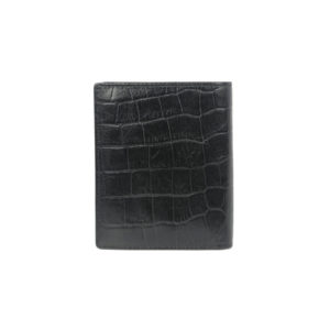 Bifold black wallet for men GNR 1102 back (leathermanfashion)