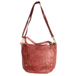 Tan Leather Hobo LM 02 front strap (leathermanfashion)