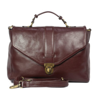 Unisex Brown Leather Handbag LM18 front leatherman fashion