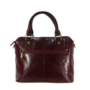 Wonen's Leather Cherry Satchel LTM 20 back (leathermanfashion)