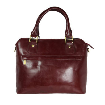 Wonen's Leather Cherry Satchel LTM 20 front (leathermanfashion)