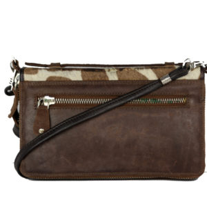 Dark Brown Leather Pouch Bag ML06 back (leathermanfashion)
