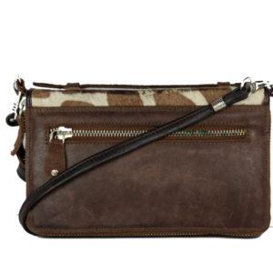 Dark Brown Leather Pouch Bag ML06 back (leathermanfashion)