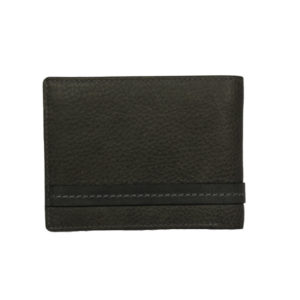 Bifold smoke color men's wallet NR 1020 back (leathermanfashion)