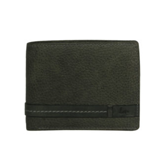 Bifold smoke color men's wallet NR 1020 front (leathermanfashion)