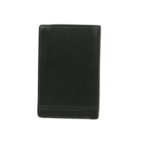 Bifold Black Color Men's wallet NR 1046 back (leathermanfashion)