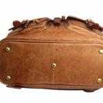Tan Unisex Leather Backpack NR0043 base (leathermanfashion)