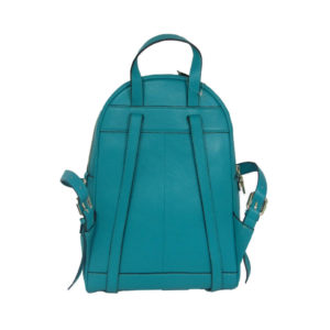 Turquoise Leather Backpack RKS1718-05 back (leathermanfashion)