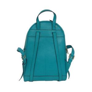 Turquoise Leather Backpack RKS1718-05 back (leathermanfashion)