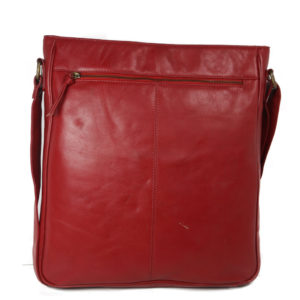 Red Messenger Bag For Girls SP 110 back (leathermanfashion)