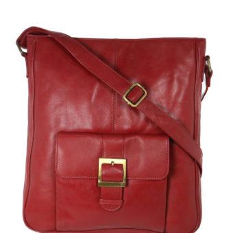 Red Messenger Bag For Girls SP 110 front (leathermanfashion)