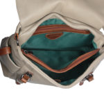 Taupe Tan Leather handbag VT 159 inside (leathermanfashion)