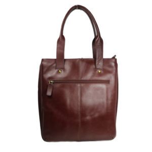 Brown Leather Tote b197 back (leathermanfashion)