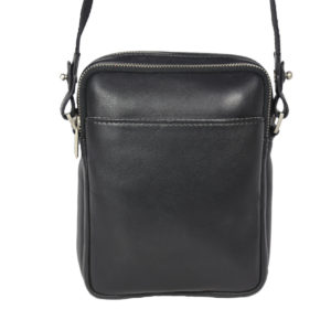 Leatherman Fashion Genuine Leather Black Sling Bag