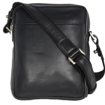 Leatherman Fashion Genuine Leather Black Sling Bag