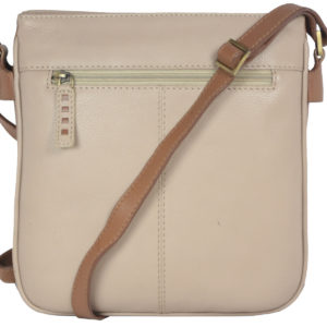 Leatherman Fashion Leather Beige Sling Bag B192 back