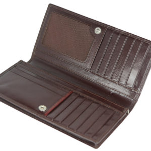Leatherman Fashion Women Brown Genuine Leather Wallet GNR-1085 inside