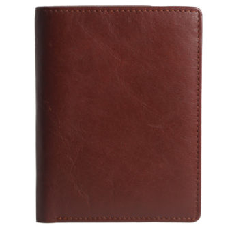 Leatherman Fashion Women Brown Genuine Leather Wallet GNR 1097 front