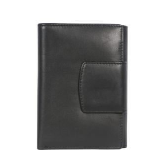 Leatherman Fashion Women Black Genuine Leather Wallet