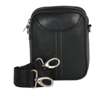 Leatherman Fashion Genuine Leather Black Shoulder Bag 2021 front