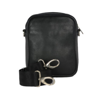 Leatherman Fashion Genuine Leather Black Shoulder Bag 2021 back