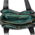 Women Black Hand-held Bag VT-217 inside (leathermanfashion)