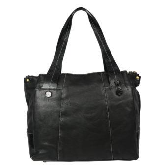 Women Black Hand-held Bag VT-217 front (leathermanfashion)