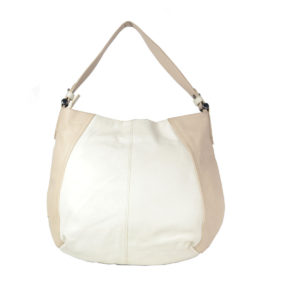 Girls White, Tan Hobo VT259 back (leathermanfashion)