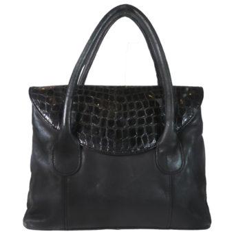 Leatherman Fashion Girls Black Handbag b113k front