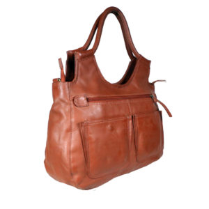 Women Brown Handbag LM 22 side leathermanfashion