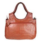 Women Brown Handbag LM 22 backview leathermanfashion