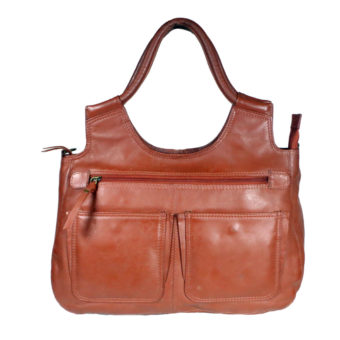 Women Brown Handbag LM 22 front leathermanfashion