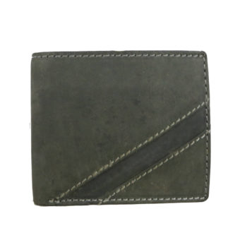 Leatherman Fashion Genuine Leather Forest Green Men's Wallet front view