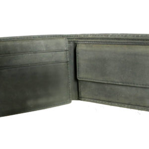Leatherman Fashion Genuine Leather Forest Green Men's Wallet inside view