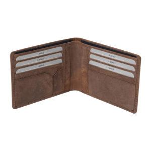 Men Genuine Leather Wallet brown mathani-hunter 5014 inside Leatherman fashion