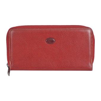 Genuine Leather red Ladies Wallet(8 Card Slots)