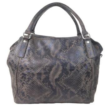 Snake Print Leather Handbag front