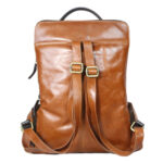 Tan Brown Backpack backside 2059 (6) leathermanfashion