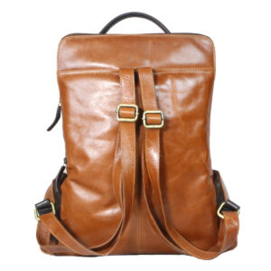 Tan Brown Backpack backside