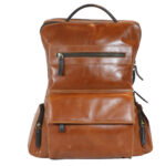 Tan Brown Backpack frontside 2059 leathermanfashion