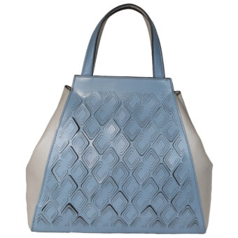 Leatherman Fashion women blue tote 3031 Front