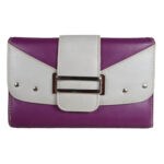 leather purple light grey ladies wallet front side 61121 front c