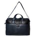 unisex navy black hand messenger bag front