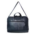 unisex navy black hand messenger bag back