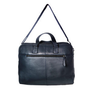 unisex navy black hand messenger bag back
