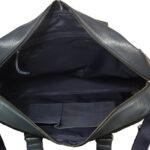 unisex navy black hand messenger bag inside