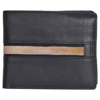 Black Genuine Leather Wallet 7775
