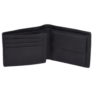 Black Genuine Leather Wallet 7775