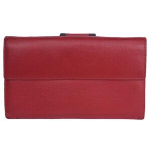 Bifold Travel Wallet LMN_TWALLET_162010_RED_BROWN_BC5561